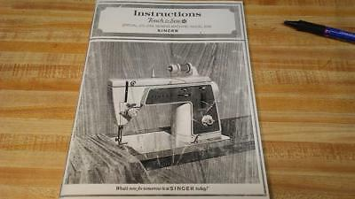 Singer 638 Touch & Sew Operating Instructions Manual