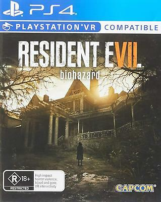Resident Evil 7 Biohazard PlayStation 4 PS4 Brand New Game VR Compatible