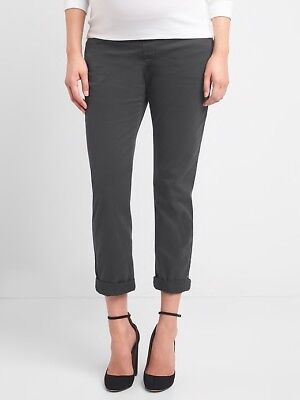ff0d64fa3033c NWT GAP MATERNITY Demi Panel Girlfriend Chinos Washed Black, Size 10 ...