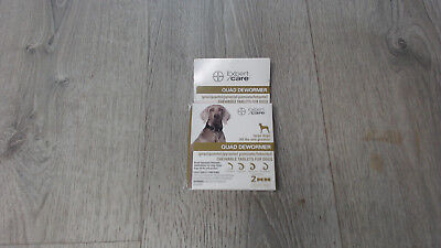 Bayer Animal Health Quad Dewormer for Large Dogs (Over 45 lbs) 2 Chewable (A)