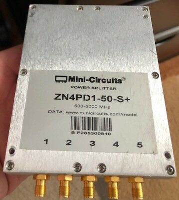 Mini-Circuits ZN4PD1-50-S+ Wideband 500-5000MHz RF Power Splitter/Combiner