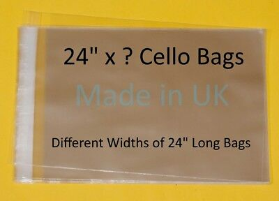 "24"" x ? - Cellophane Display Bag for Photo Mounts - Different Lengths Available"