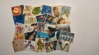 £10 Face Value Unfranked Lower Value Commemorative Stamps (Off Paper - No Gum)