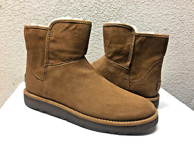 f80250c0af4 UGG CLASSIC LUXE Collection Abree Mini Boots Bruno Brown Sheepskin ...