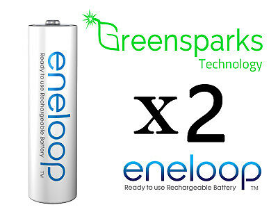 2x Panasonic Eneloop rechargeable LSD NiMH AA batteries 4th gen *Made in Japan*