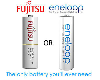 1-100xPanasonic Eneloop rechargeable NiMH LSD AA batteries 4th gen Made in JAPAN