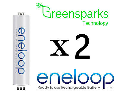 2x Panasonic Eneloop rechargeable LSD NiMH AAA batteries 4th gen