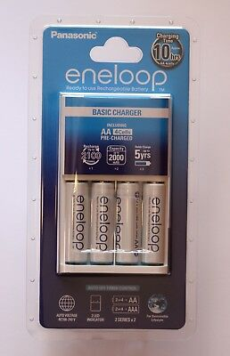 Eneloop standard charger for 1-4 AA/AAA NiMH batteries + 4 AA rechargeables