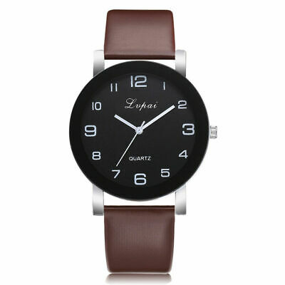 Women's Casual Stainless Steel Quartz Leather Band Bracelets Analog Wrist Watch