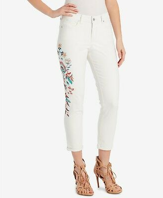 4d7c16f459b JESSICA SIMPSON JUNIORS  Forever Embroidered Roll-Cuff Skinny Jeans ...