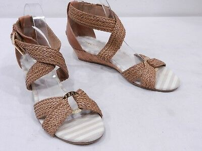 ef35885c22 SPERRY TOP-SIDER 'Alvina' Womens 7 Brown Leather Braided Cross Strap Sandals