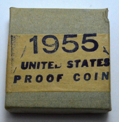 RARE 1955 PROOF SILVER  Coins SET, UNOPENED  SEALED BOX,  US MINT!