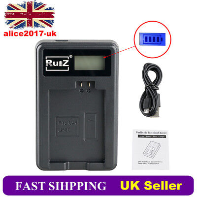 UK Camera Battery Charger for Canon LP-E5 EOS 450D 500D 1000D KISS F X2 X3 Rebel