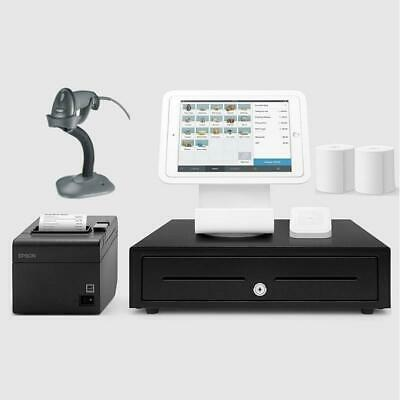 Square Stand Retail POS System for iPad with the Zebra LS2208 Barcode Scanner...