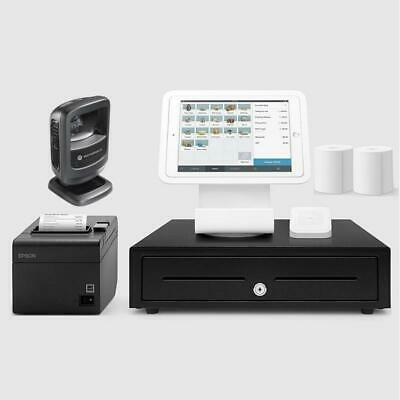 Square Stand Retail POS System for iPad with the Zebra DS9208 Barcode Scanner...