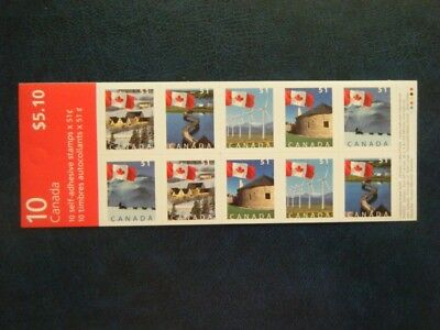 Canada#2139? MNH Booklet Pane 'Flags Over' Lot#F44