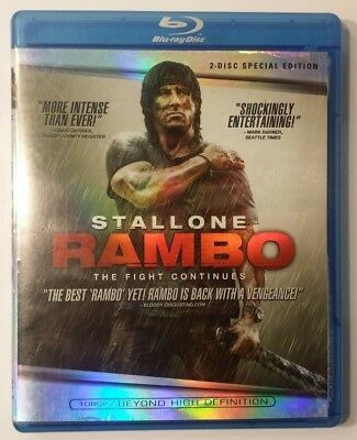 Rambo (Blu-ray 2-Disc set, 2008, Special Edition) Starring Sylvester Stallone