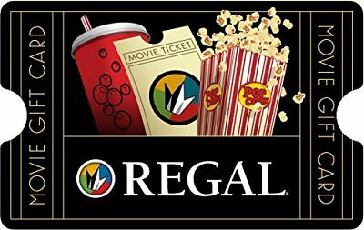 Regal Cinemas 25$ USD Email Gift Card Digital Delivery