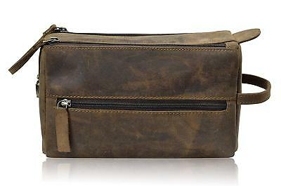 f436494a2ade Genuine Leather Toiletry Bag Shaving and Grooming Kit for Travel Gift for  Men