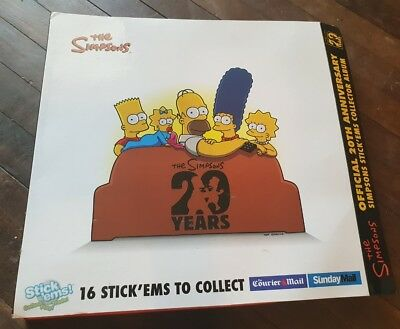 The Simpsons Stick'ems Collector Set, 16 Complete Collectables With Case. Rare.