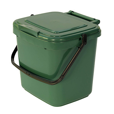 All-Green 7 Litre Plastic Kitchen Compost Caddy, Green