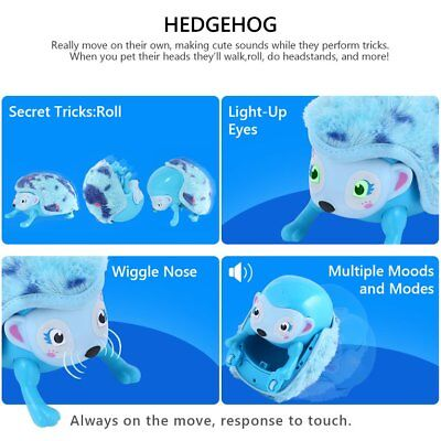 Electronic Pet HeESehog Rolling Walking Music Intelligent Induction To HS