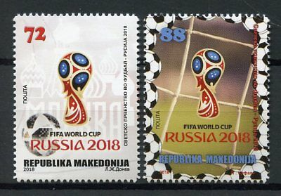 Macedonia 2018 MNH World Cup Football Russia 2018 2v Set Soccer Sports Stamps