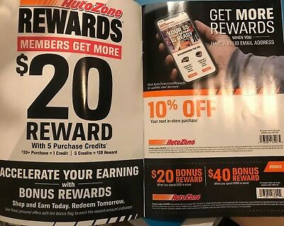 Autozone coupons $1000's worth of coupons, 10% off store purchase; reward card