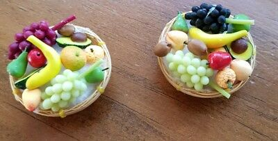 Miniature dolls house accessories Fruit Basket Assorted Fruits1:12th scale size
