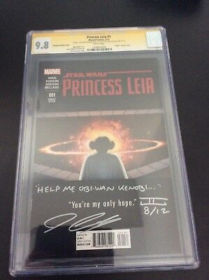 Star Wars Princess Leia 1 Cassaday Variant CGC 9.8 signed Cassaday