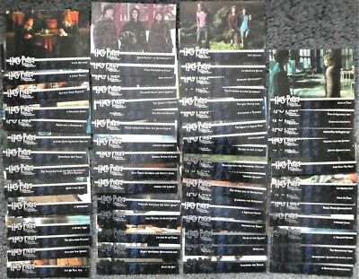 Lot of 60+ Harry Potter & Prisoner of Azkaban Update Trading Cards by Artbox