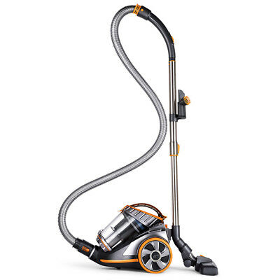 PUPPYOO WP9005B Cyclonic Bagless Canister Vacuum Cleaner Large Suction Capacity