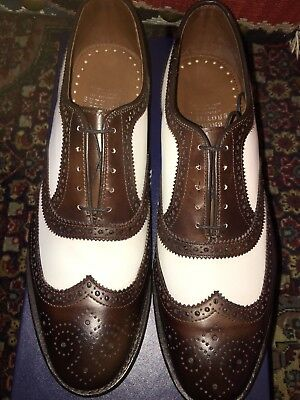 846e866e188 Brooks Brothers Allen Edmonds 8.5 D Spectator Brown And White Shoes Brand  New