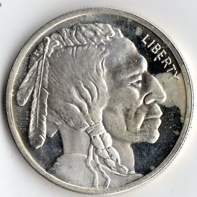 1 Ounce .999 Silver Round  Buffalo Indian Head