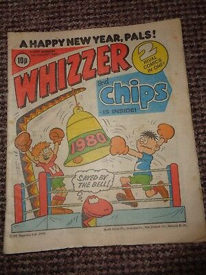 Vintage Whizzer & Chips Comic New Year 1980 Edition L1