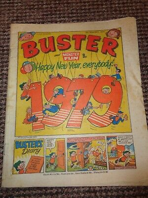 Vintage Buster Comic 1979 New Year Edition L1