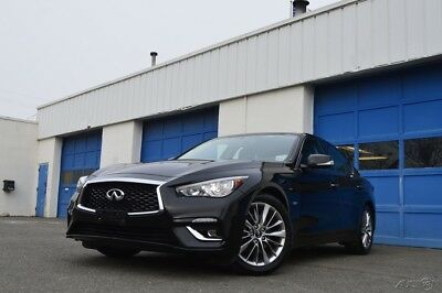 2018 Infiniti Q50 3.0t LUXE Full Power Options Leather Interior Power Moonroof Rear View Camera Bluetooth ++