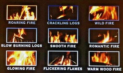 Virtual Fire Place Dvd Soothing Relaxing Calming 9 Fires To Choose From