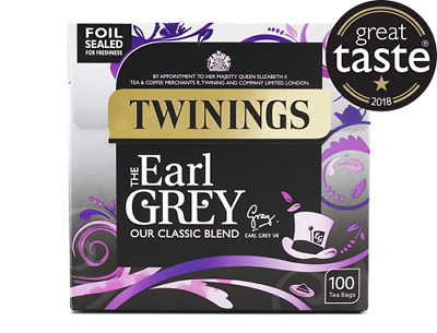 ☕TWININGS EARL GREY 6 X 100 Tea Bags 600 Teabags Black Cuppa Relax Office Lunch☕