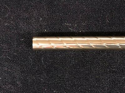 "Spiral / Twisted Brass Tubing 1-1/4"" x 25-1/4"" polished  art project"