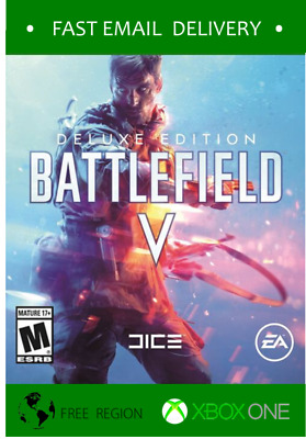 Battlefield V 5 Deluxe Edition Xbox One / One X - Fast code * READ TERMS*