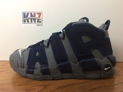 brand new 76bf4 a66c3 Nike GS AIR MORE UPTEMPO Cool Grey Navy BASKETBALL SHOES size 6.5 (415082  009)