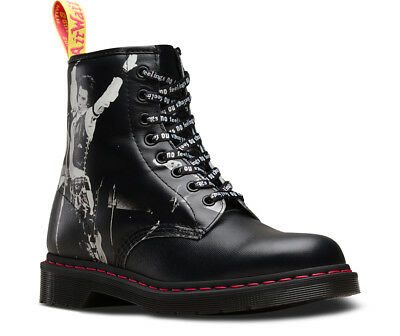 Dr. Martens  Women's 1460 LIMITED EDITION Sex Pistols Straw Black All Sizes!!!