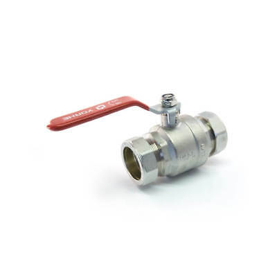 NEW Ball Valve - 54mm Compression 25 bar Red Lever Handle UK SELLER, FREEPOST