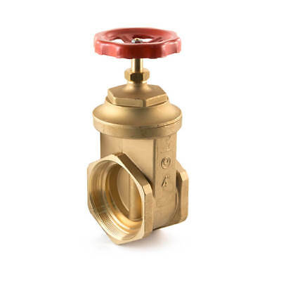 "NEW Wheelhead Gate Valve -  2.1/2"" BSP F Brass UK SELLER, FREEPOST"