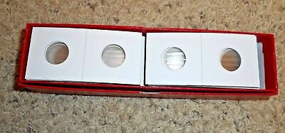 100 NICKEL Size 2x2 Mylar Cardboard Coin Flips for Storage 5 cent Holders BOXED