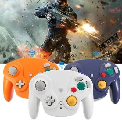 2.4G Wireless Controller Game Gamepad + Receiver For Nintendo Gamecube NGC Wii !