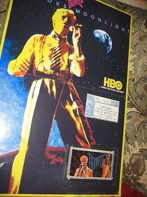 David Bowie 1983 84 Serious Moonlight 1 of a kind poster photo Keepsake vintage