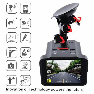 Portable H588 2.7 Inch HD TFT Screen Car DVR Camera Anti Speed Radar Detector NX