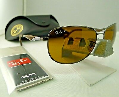 8a04d01f864 Ray-Ban Rb3519 029 83 Matte Gunmetal Brown Polarized Sunglasses 62Mm New 9